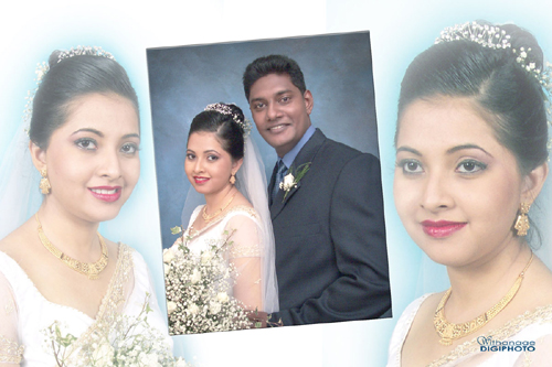 Bridal Photography, bridal make-up and costume arrangement are additional services available  at Studio Withanage