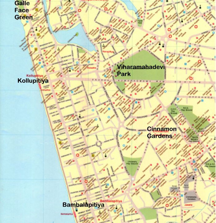 Map of the City of Colombo - Section 3 (numbered sequentially from North to South)