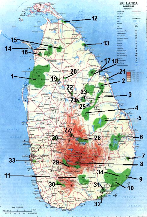 Wildlife Conservation Areas of Sri Lanka